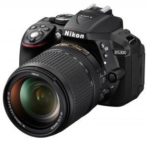 Nikon D5300 front 3/4 angle